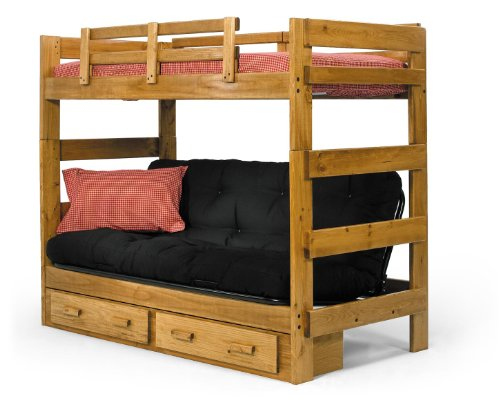 Chelsea Home Furniture 366200-S Twin Over Futon Bunk Bed with Underbed Storage, 68