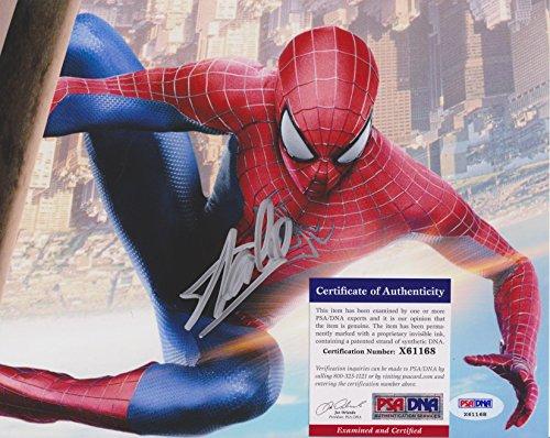 Stan Lee Spider-Man 14 Autographed Photo PSA/DNA