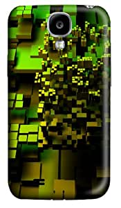 Green Cubic Forms Custom Samsung Galaxy S4 I9500 Case Cover ¨C Polycarbonate