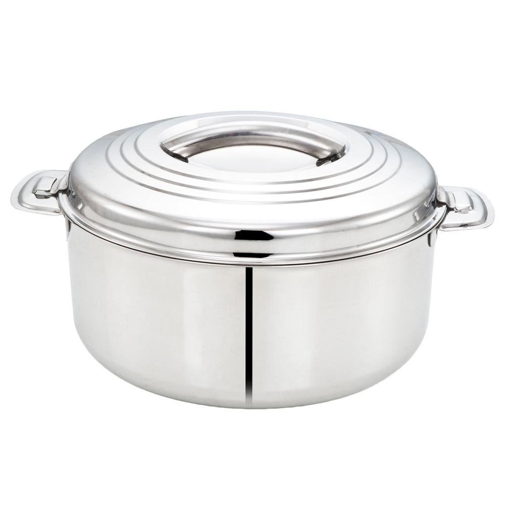 Tabakh 10-Liter Stainless Steel Casserole Hot-Pot Food Warmer & Serving Bowl, 10000ml