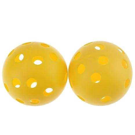 crestgolf 72 mm Flujo de Aire de Plástico Práctica pelota de golf ...