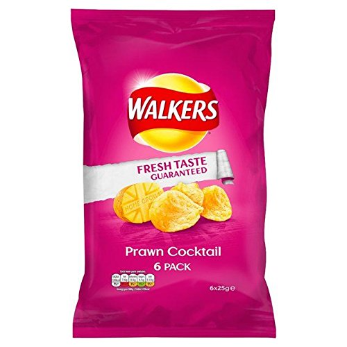 (Walkers Prawn Cocktail Crisps 25g x - 6 per pack)