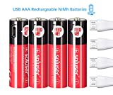Best Usb Rechargeable Batteries - AA Rechargeable Batteries, USB Rechargeable AA Batteries 1000mAh Review