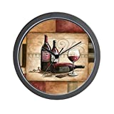 CafePress – Wine Chocolate 2 – Unique Decorative 10″ Wall Clock For Sale