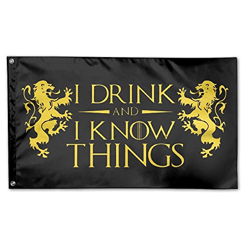 UDSNIS I Drink And I Know Things Garden Flag 3 X 5 Flag For