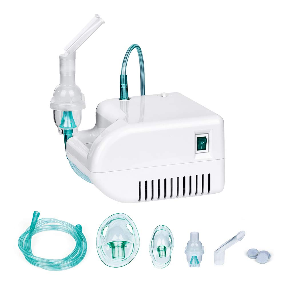 FIGERM Upgraded Cool Mist Inhaler Compressor System Includes Kits for Home Use-2 Year Warranty