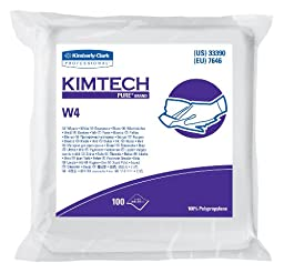 Kimberly-Clark Kimtech 33390 Pure Disposable Wiper with W4 Dry, 9\
