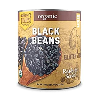 Nature's Greatest Foods, Organic Black Beans, Food Service Size, Ready to Serve, 110 Ounce (6 LBS 14 Ounce)