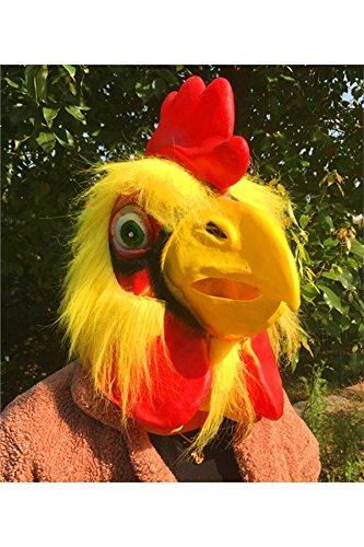 Zhihan Toys Party Mask Animal Latex Head Headdress Halloween Rooster R7x6qrfRF