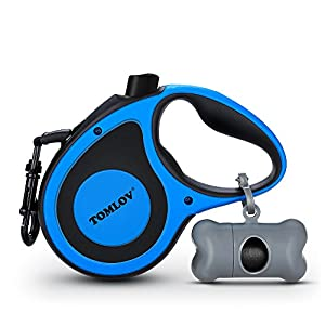 Pet Dog Retractable Leash up to 16.4ft 110lbs for Small/Medium/Large Dogs Walking Outdoor with Waste Bag Cone Click on image for further info.