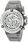 Invicta Women's Subaqua Stainless Steel Analog-Quartz Watch with Silicone Strap, Grey, 24.5 (Model: 24378)