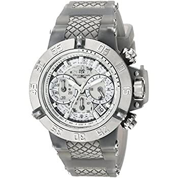 Invicta Womens Subaqua Quartz Stainless Steel and Silicone Casual Watch, Color Grey (Model: 24378)