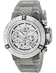 Invicta Womens Subaqua Quartz Stainless Steel and Silicone Casual Watch, Color:Grey (Model: 24378)