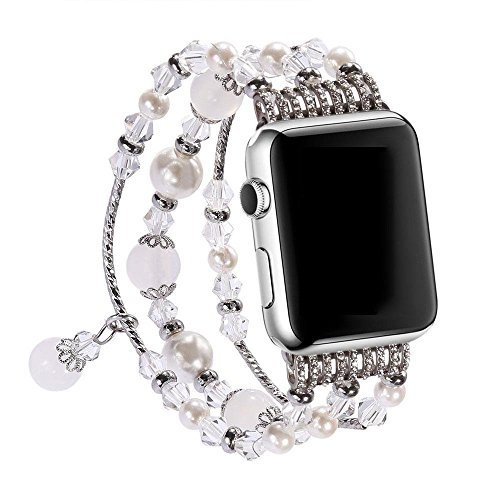 38mm/42mm Watch Band for Apple Watch, Wanhua luxurious Handmade Agate Stone Women iwatch Replacement Bracelet Strap for Apple Watch Series 1 and Serie…