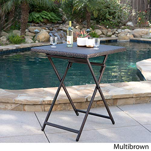 Marinelli Outdoor Multibrown Wicker Bar Table by Christopher Knight Home (Image #2)