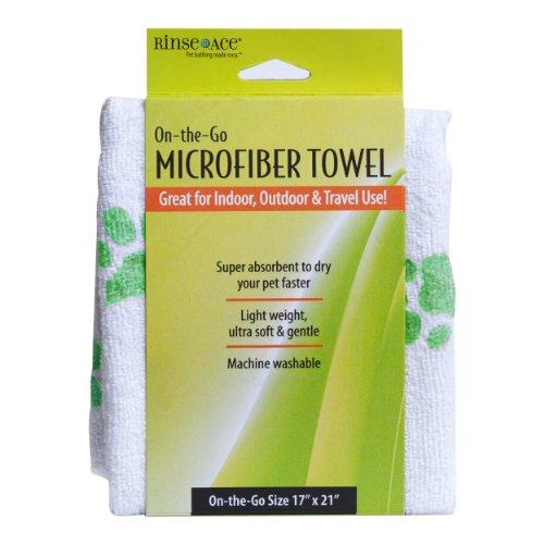 (Rinse Ace Pet Microfiber XL Drying Towel, 17' x 21')