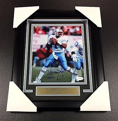 Warren Moon Houston Oilers Autographed Signed 8x10 Photo Framed Jsa Coa