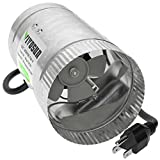 VIVOSUN 4 inch Inline Duct Booster Fan 100 CFM, Low Noise & Extra Long 5.5' Grounded Power Cord