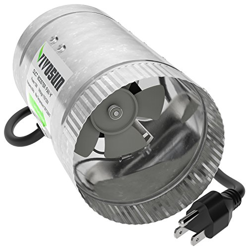 4in Motor (VIVOSUN 4 inch Inline Duct Booster Fan 100 CFM, Low Noise & Extra Long 5.5' Grounded Power Cord)