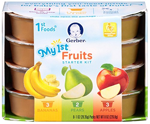Gerber 1st Foods Starter Pack - Apples, Bananas, Pears - 1 oz - 8 pk