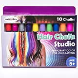 Madellena: Hair Chalk Birthday Gifts For Girls, 10 Colorful Hair Chalk Pens. Temporary Color, Presents For Girls Age 4 5 6 7 8 9 10 Years Old, Birthday Gift for Girls – 80 Applications