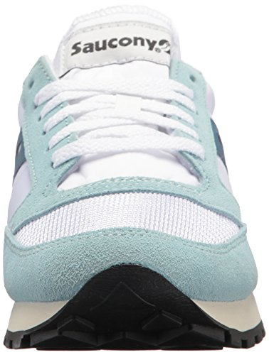 25 Vintage Baskets Jazz Saucony blue Blanc Femme white Original 6qPEw8
