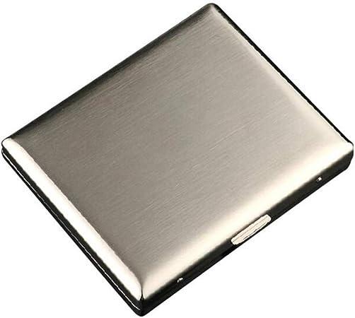 kMOoz Estuche de Cigarrillos de Metal, portátil, de Acero Inoxidable, Caja de Cigarrillos de Metal, 20 Varillas: Amazon.es: Hogar