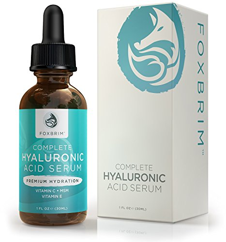 Price comparison product image Foxbrim Complete Hyaluronic Acid Serum - Hydrating ANTI-AGING Face Serum - With Vitamin C, Green Tea, Jojoba Oil & Witch Hazel - Natural & Organic Ingredients - 1OZ