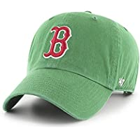 fan products of '47 MLB Boston Red Sox St. Patty's Clean up Adjustable Cap (Green)