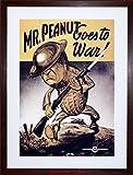 vintage peanuts - VINTAGE AD PROPAGANDA WAR WWII USA MR PEANUT HELMET GUN FRAMED PRINT F97X6132