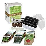 Salad & Vegetable Garden Seed Starter Kit   Premium Kit   18 Non-GMO Varieties   Gardening Starter Kit   Seeds: Onion, Swiss Chard, Broccoli, Snap Pea, Spinach, Lettuce, Tomato & More
