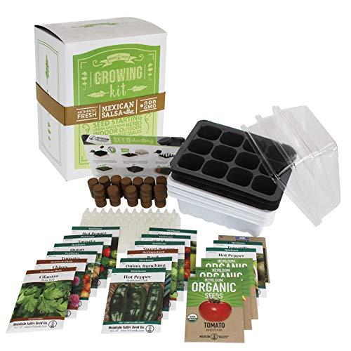 Salad & Vegetable Garden Seed Starter Kit | Premium Kit | 18 Non-GMO Varieties | Gardening Starter Kit | Seeds: Onion, Swiss Chard, Broccoli, Snap Pea, Spinach, Lettuce, Tomato & More