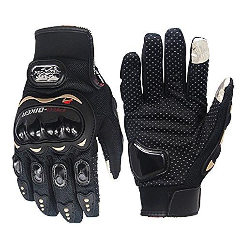 pro-biker NEW Generation II Motorcycle Full Finger TouchScreen Gloves Motorbiker Motocross Non Slip Riding Racing gloves (M)