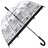 HAOCOO Street Clear UmbrellaBubble Transparent Fashion Dome Auto Open Umbrella Windproof for Outdoor Weddings or Events