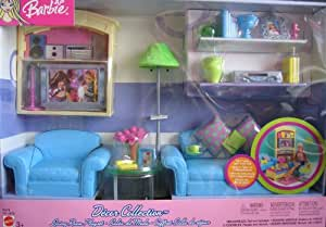 barbie living room furniture decor collection living room playset 13787
