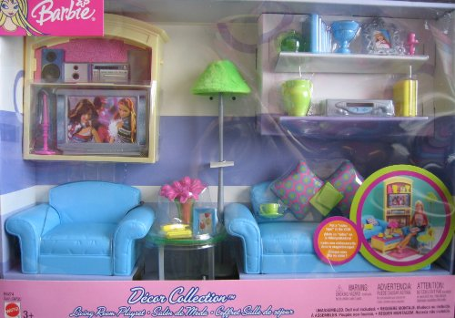 Exceptionnel Amazon.com: Barbie Decor Collection Living Room Playset   Multi Lingual Box  (2003): Toys U0026 Games