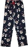 PJ Salvage Women's Navy Blue Flannel Pajama Pants w/ Hot Cocoa Print