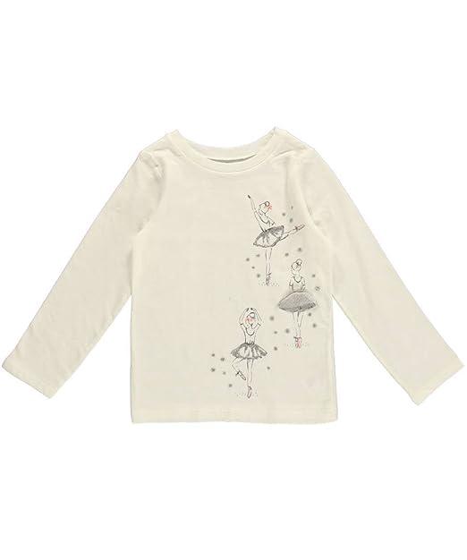 f85fecdf Amazon.com: Carter's Little Girls' Long Sleeve Shirt White Ballerina ...