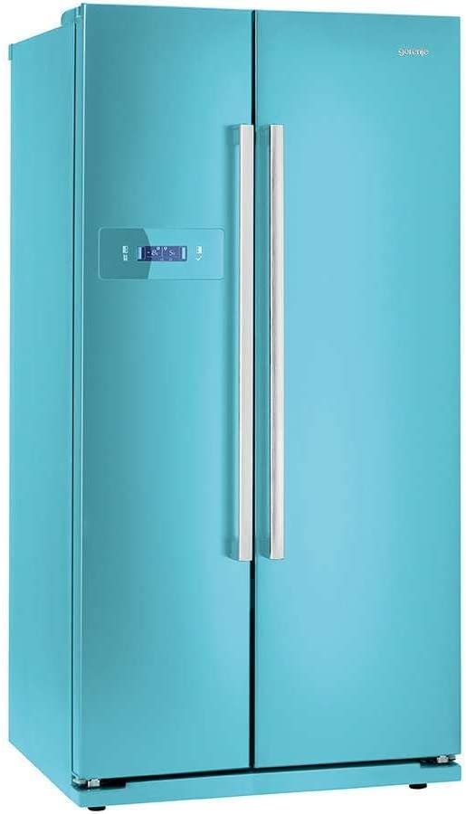 Gorenje NRS85728BL - Frigorífico side-by-side (Independiente, Azul ...