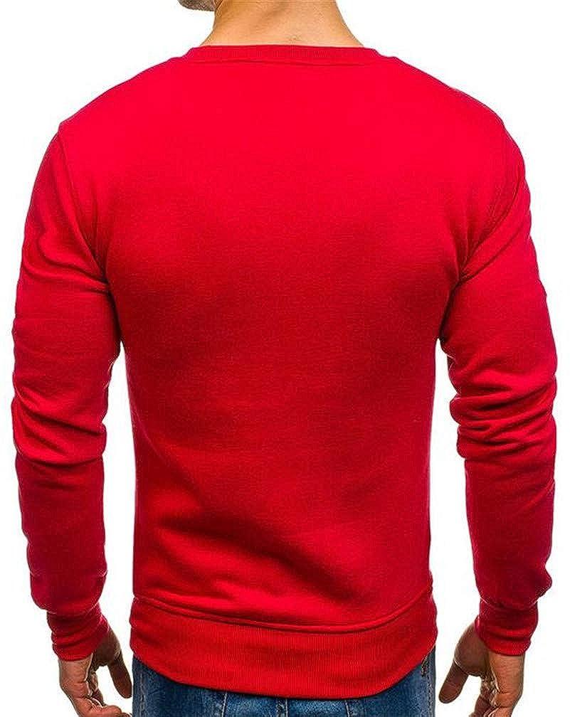 XiaoTianXinMen XTX Mens Crewneck Autumn Long Sleeve T-Shirts Tee Pullover Sweatshirts