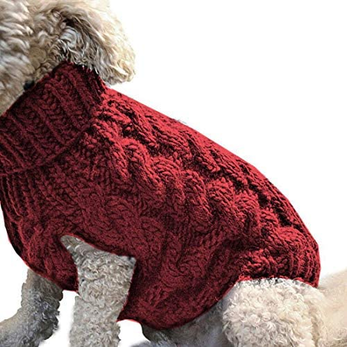 dog clothes christmas Assorted Colours and Size Options Soft Comfortable Small Pet Dog Knitted Winter Warm Sweater Jumpers ZUHANGMENG Dog Sweater Vest Warm Coat