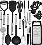 nylon cookware utensils - Kitchen Utensil Set - 23 Nylon Cooking Utensils - Kitchen Utensils with Spatula - Kitchen Gadgets Cookware Set - Best Kitchen Tool Set Gift by HomeHero