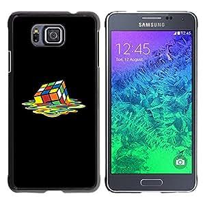 Be Good Phone Accessory // Dura Cáscara cubierta Protectora Caso Carcasa Funda de Protección para Samsung GALAXY ALPHA G850 // Rubiks Cube Art Colorful Square Melting