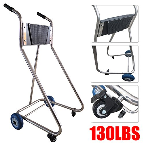 Stainless Steel Boat Outboard Motor Stand Cart Dolly with Wheel Enginee Carrier (Outboard Dolly)