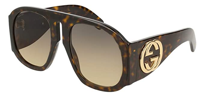 8bad6857ac0 Image Unavailable. Image not available for. Color  Gucci GG0152S Sunglasses  004 ...