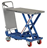Vestil Hydraulic Elevating Cart - Manual Power, Single Scissor, 400-Lb. Capacity, 17 1/2in. x 27 1/2in. Platform, Model# CART-400