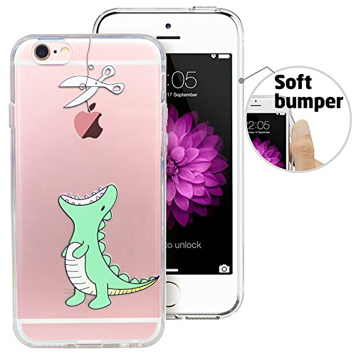 iPhone 6 Case, iPhone 6S Case, Doramifer Funny Series Protective Case [Anti-Slip] [Good Grip] [Ultra Thin] with Aesthetic 3D Print Soft Back Cover for 4.7 inch iPhone 6/6S (Little Dinosaur)
