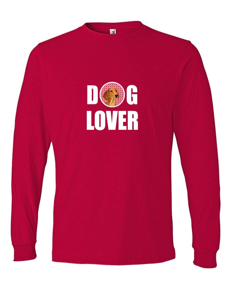 Multicolor Carolines Treasures SS4487LS-REDU-Parent Dachshund Long Sleeve Red Unisex Tshirt