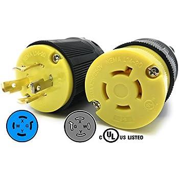 51H7wHytDFL._SL500_AC_SS350_ leviton 2411 20 amp, 125 250 volt, nema l14 20p, 3p, 4w, locking