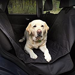 Car seat Covers for Transporting Pets in Car - Waterproof, Non-Slip Auto Seat Protector from Cat and Dog Hair with Flaps on Sides and Adjustable Straps - Back Seat Dog Cover